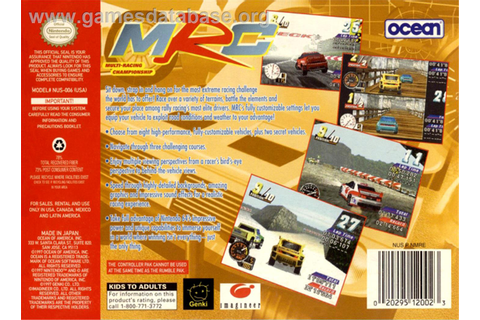 MRC: Multi Racing Championship - Nintendo N64 - Games Database
