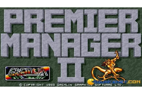 Premier Manager 2 gameplay (PC Game, 1993) - YouTube