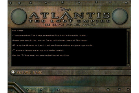Disney's Atlantis: The Lost Empire - Search for the ...