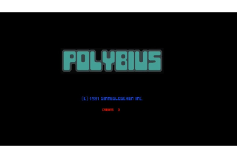 Polybius Gameplay - Cursed Arcade Game - YouTube