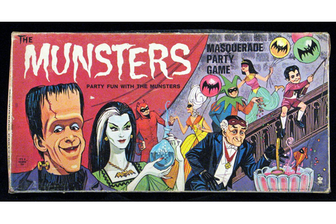The Munster's Masquerade Party Game (1965) | The munsters ...