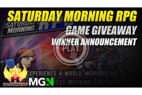 Saturday Morning RPG ★ Game Giveaway ★ Winner Announcement ...