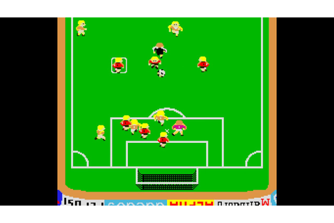 Arcade Game: Exciting Soccer II (1984 Alpha Denshi) - YouTube