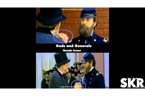 Movie Mistakes: Gods and Generals (2003) - YouTube
