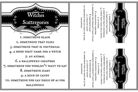 Witches Tea Printables | Up to Date Interiors