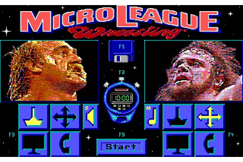 Download MicroLeague wrestling sports for DOS (1989 ...