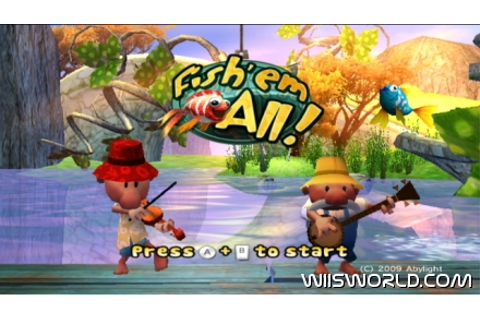 Fish 'em all on WiiWare