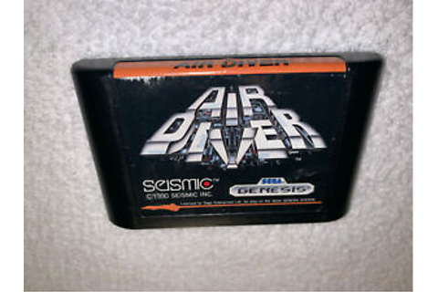 Air Diver (Sega Genesis, 1990) Seismic Game Cartridge Vr ...