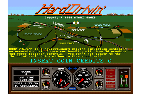 Hard Drivin' - Videogame by Atari Games