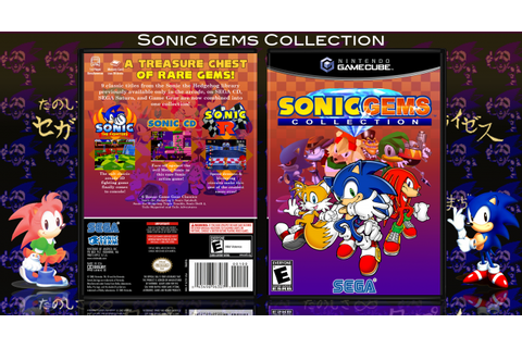 Sonic Gems Collection GameCube Box Art Cover by VidGmr1996