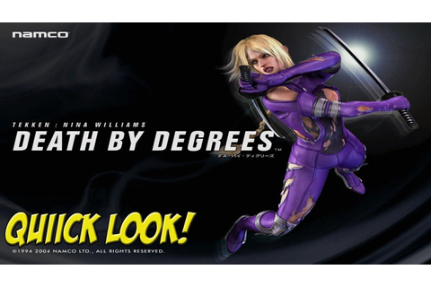 PS2: Death by Degrees! Starring Tekken's Nina Williams ...
