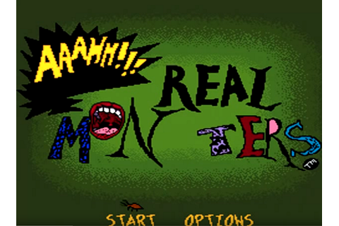 AAAHH!!! Real Monsters (SNES) Super Nintendo Game Archive