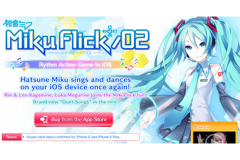 SEGA's Miku Flick/02 Mobile App Service Ends July 19th ...