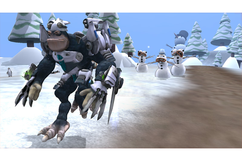 Image - Captain running away from snowman.jpg | SporeWiki ...