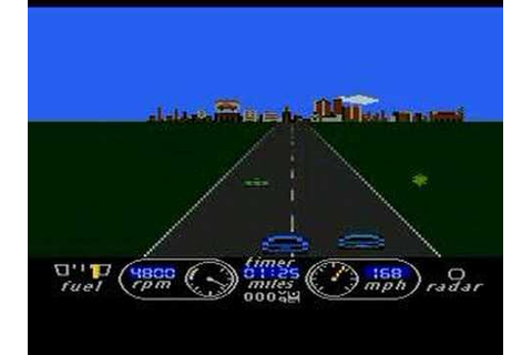 Atari XL/XE - Road Race [Activision] 1985 - YouTube