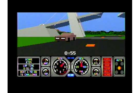 Sega Genesis Hard Drivin Game (Intro) - YouTube