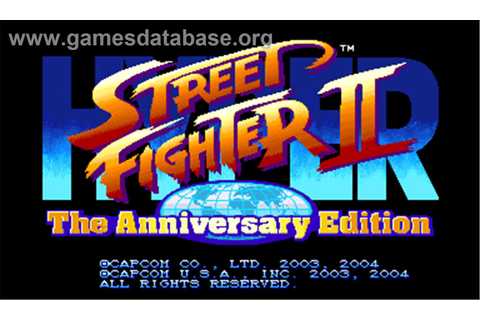 Hyper Street Fighter II: The Anniversary Edition - Arcade ...