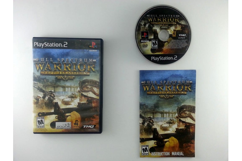 Full Spectrum Warrior Ten Hammers game for Playstation 2 ...
