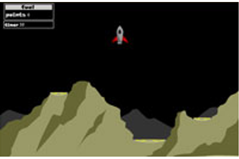 Moonlander the computergame flash online Lunar Lander free