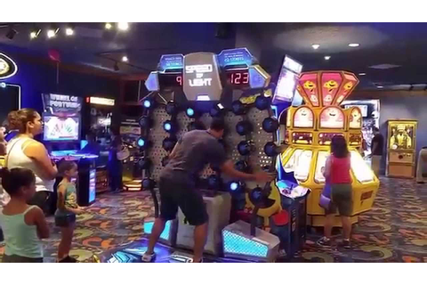 Huge video game room Las Vegas Excalibur - YouTube