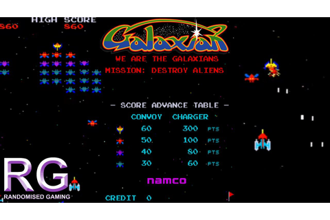 Galaxian - Arcade Version Gameplay - YouTube