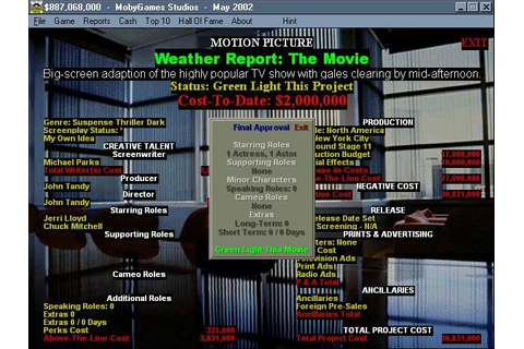Hollywood Mogul Screenshots for Windows - MobyGames