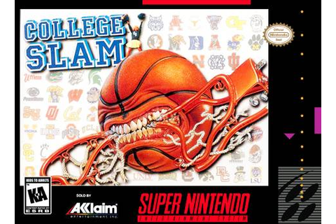 College Slam SNES Super Nintendo
