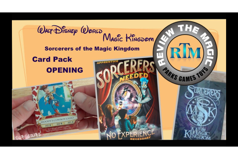 OPENING Sorcerers of the Magic Kingdom Game Play Cards ...
