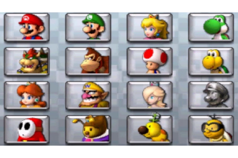 Mario Kart 7 - All Characters - YouTube