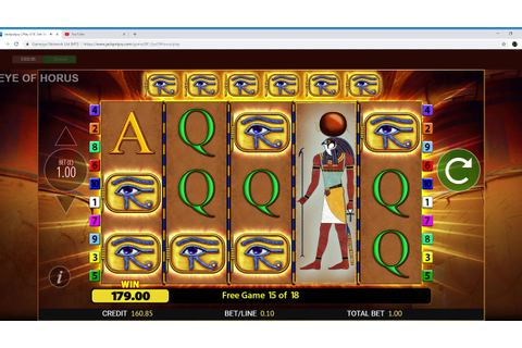JackpotJoy New Slot (Eye of Horus) Part 2 02/11/2018 - YouTube