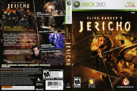 Games Covers: Clive Barkers Jericho - Xbox 360