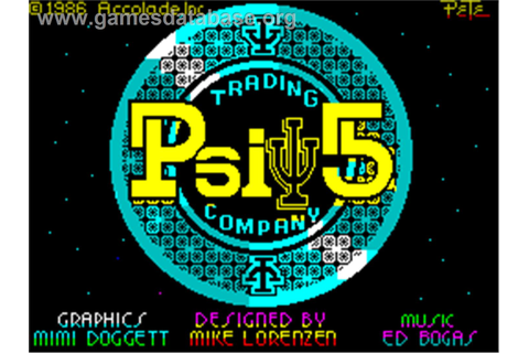 Psi-5 Trading Company - Sinclair ZX Spectrum - Games Database