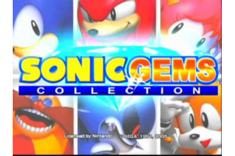 Sonic Gems Collection Game Sample 1/4 - GameCube - YouTube