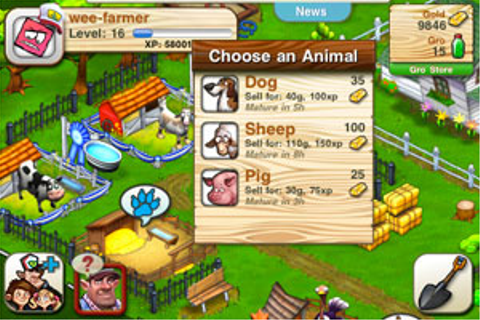 We Farm en uFall iPhone-game volgen bekend recept