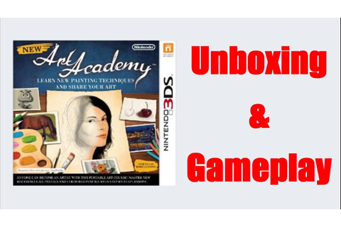 New Art Academy Nintendo 3DS Unboxing + Gameplay Video ...