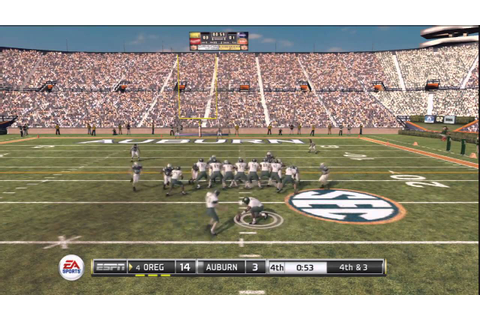 NCAA Football 11 Game Highlights (PS3) - Oregon vs Auburn ...