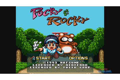 1993 Pocky & Rocky (Super Nintendo) Game Playthrough Video ...