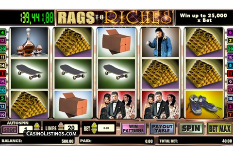 Free Rags to Riches 20 Line slot machine | Casino Listings ...