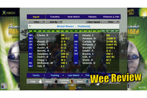 Championship Manager: 02/03 (Xbox) - Wee Review - YouTube
