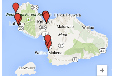 Maui video games map