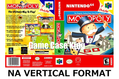 Monopoly N64 game case | Game Case King - Custom Game ...