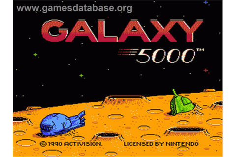 Galaxy 5000: Racing in the 51st Century - Nintendo NES ...