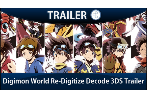 Digimon World Re-Digitize Decode 3DS Trailer - YouTube