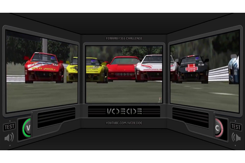 Ferrari F355 Challenge DX (Arcade) 3 Screen version - YouTube