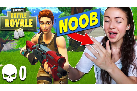REACTING TO MY FIRST EVER FORTNITE GAME!! (FUNNY) - YouTube