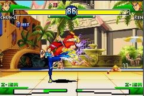 Street Fighter Alpha 3 (2002) by Crawfish Interactive GBA game