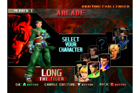 Bloody Roar Primal Fury GC Character Select - YouTube