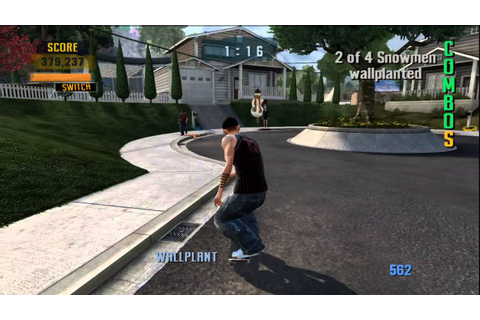 Tony Hawk's Project 8 - Suburbia Classic Goal Sick Run ...