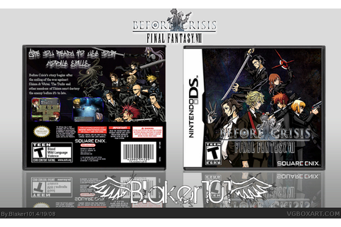 Before Crisis: Final Fantasy VII Nintendo DS Box Art Cover ...