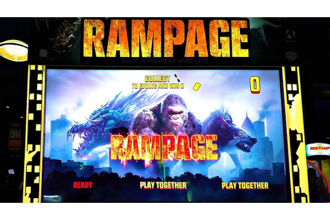 RAMPAGE ARCADE Game Play! NEW! - YouTube